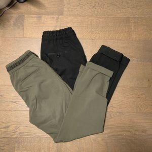 Army Green Zara Drawstring Trousers - 2 for 20$